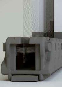 Binario a terra in alluminio per Essenza 32/42 by Bellini Srl