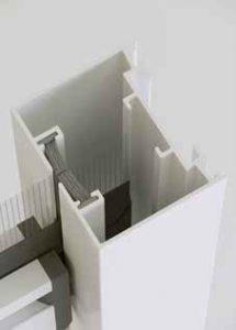 Guida verticale con spazzolino antivento per essenza plus verticale by Bellini Srl